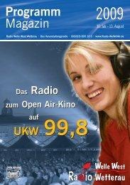 WeWeWe vor Ort – live aus dem Open Air-Kino - Radio Welle West ...