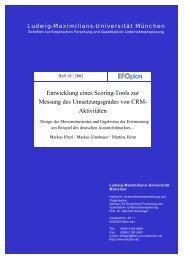Entwicklung eines Scoring-Tools zur Messung des Umsetzungsgrades