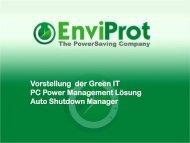 Vorstellung der Green IT PC Power Management Lösung Auto ...