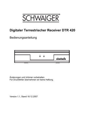 Digitaler Terrestrischer Receiver DTR 420 - produktinfo.conrad.com