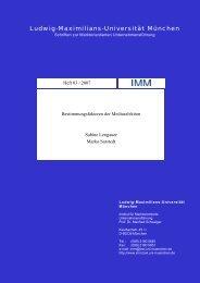 Bestimmungsfaktoren der Mediaselektion - Institut für ...