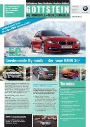 Gewinnende Dynamik – der neue BMW 3er Termine - BMW Gottstein