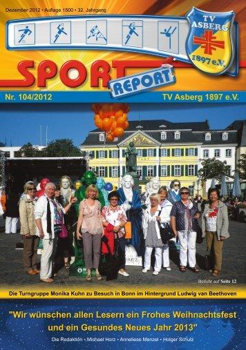 Diesen Sport Report will ich lesen! - TV Asberg 1897 eV