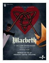 Macbeth - Theatre at UBC - University of British Columbia