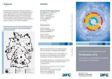Förderatlas 2012 - Kennzahlen zur öffentlich finanzierten ... - DFG