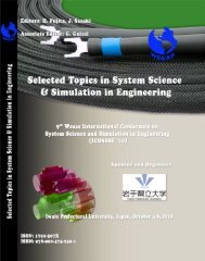 SELECTED TOPICS in SYSTEM SCIENCE and ... - Wseas.us