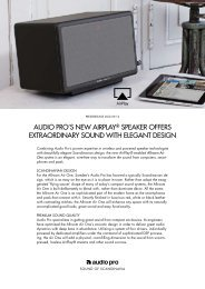 Allroom Air One Press release - Audio Pro