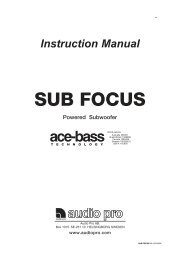 SUB FOCUS 115V manual.pmd - Audio Pro