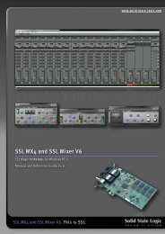 SSL Mixer Manual - Absolute Professional Audio