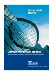 German Merger Act Update New provisions dealing with ...