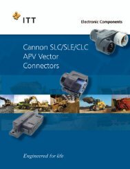 Cannon SLC/SLE/CLC/APV Vector - ITT Cannon