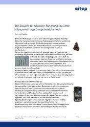 Die Zukunft der Usability - Institut an der Humboldt-Universität zu ...
