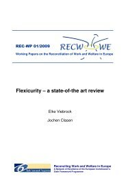 Flexicurity – a state-of-the art review - Social Policy at the University ...