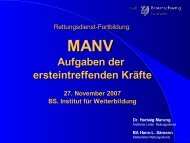 MANV 3 - Rettungsdienst Braunschweig
