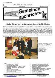 Mehr Sicherheit in Katsdorf durch Defibrillator