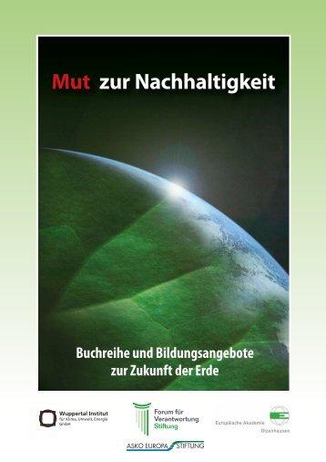Mut zur Nachhaltigkeit - Entrepreneurship.de