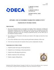 APPAREL AND ACCESSORIES MARKETING SERIES ... - DECA