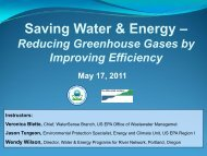 Saving Water & Energy - Water - US Environmental Protection Agency