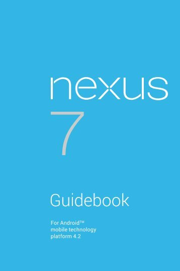 Nexus 7 Guidebook (PDF) - Google