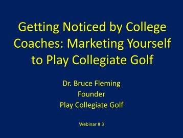 NCAA - Play Collegiate Golf