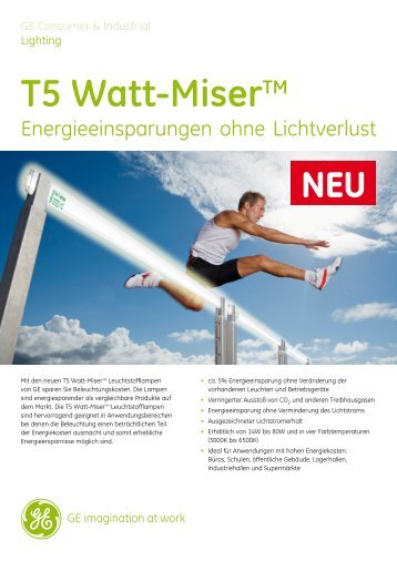 T5 Watt-MiserTM Technische Daten - LTV