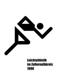 Leichtathletik im Zollernalbkreis 1998 - Leichtathletikkreis Zollernalb