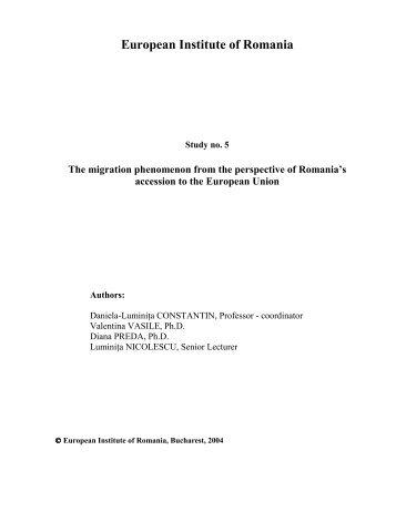 European Institute of Romania - Institutul European din Romania