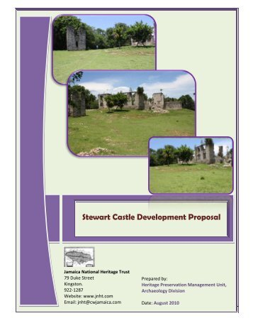 Stewart Castle Development Proposal - Jamaica National Heritage ...
