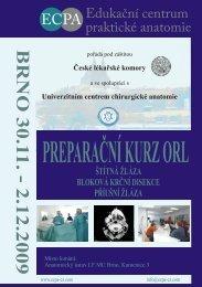 PREPARAČNÍ KURZ ORL - Edukační centrum praktické anatomie
