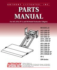 PARTS MANUAL PARTS MANUAL - Anthony Liftgates, Inc.