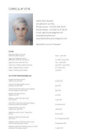 CURRICULUM VITAE - Alexis Buehrer