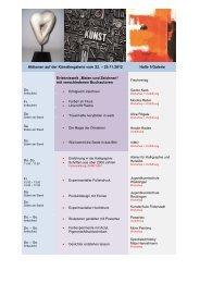 Aktionen auf der Künstlergalerie vom 22. – 25.11.2012 Halle 1 ...