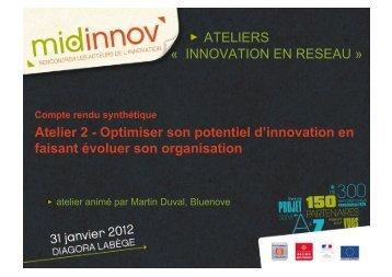 Atelier 2 - Optimiser son potentiel d'innovation en faisant évoluer ...