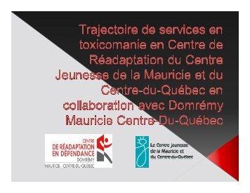Atelier 2.Trajectoire de services en toxicomanie en CR du Centre ...
