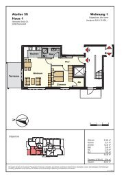 2 1 3 4 Wohnung 1 Atelier 39 Haus 1
