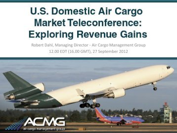 The Freighter Overcapacity Threat - Air Cargo Management Group