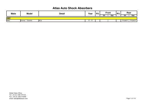 Rear Shock Absorber FOR NISSAN MICRA K11 1.0 1.3 1.4 92-/>02 Hatch Excel-G