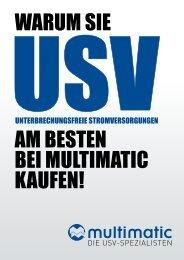 UNTERBRECHUNGSFREIE STROMVERSORGUNGEN - multimatic