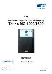 Tekno MO 1000/1500 - multimatic
