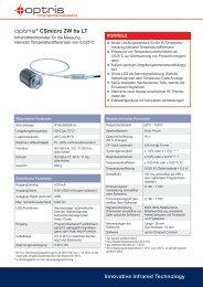 Datenblatt Pyrometer optris CSmicro 2W hs LT - mu:v