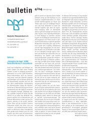 bulletin 4/04 - Deutscher Museumsbund