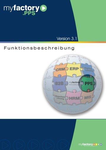 Funktionsbeschreibung PPS - Myfactory