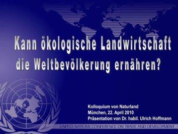 Ulrich Hoffmann, UNCTAD - Naturland