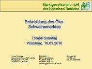 Entwicklung des Öko- Schweinemarktes - Naturland