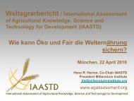 Hans Herren, IAASTD, (pdf-Datei, 4,5 MB - Naturland