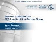 Stand der Diskussion zur EEG-Novelle 2012 im Bereich ... - Naturland