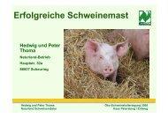 Peter Thoma - Erfolgreiche Schweinemast - Naturland
