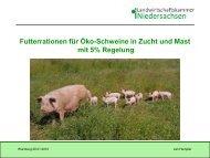 Futterrationen für Öko-Schweine in Zucht und Mast mit 5 ... - Naturland