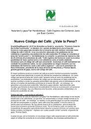 Nuevo Código del Café: ¿Vale la Pena? - Naturland
