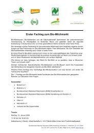 Erster Fachtag zum Bio-Milchmarkt - Naturland